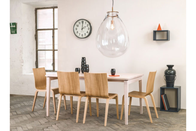 TON Stockholm Dining Table Feat