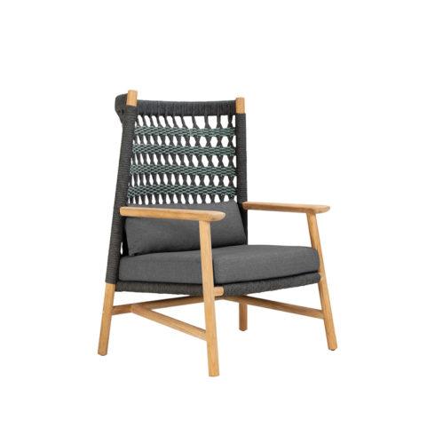 Anatra Teak High Back Loung Chair
