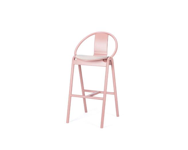Barstool Again Upholstered Seat