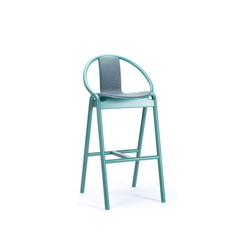 Barstool Again Upholstered Seat and Back